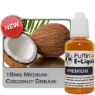 Coconut Dream 18mg - Medium - 30ml